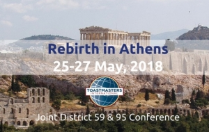 Rebirth in Athens, Joint Toastmasters Conference